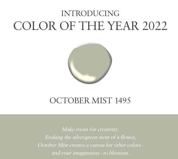 Benajmin Moore COTY October Mist 1495