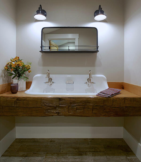 bathroom open sink
