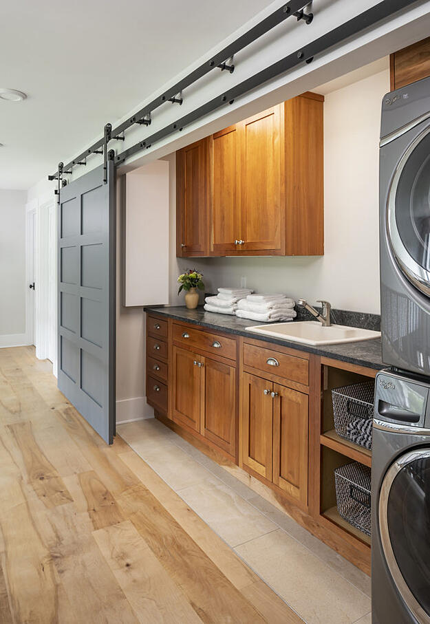 Photo of laundry room in an upstairs hallway