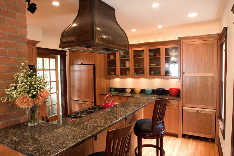 Custom copper Hood in Meadowlark Kitchen Remodel