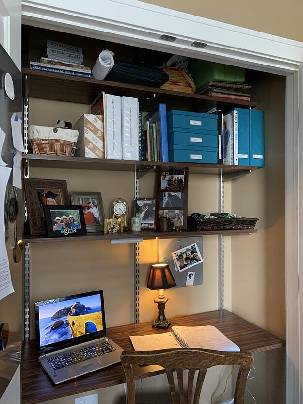 Bedroom Closet Turned into Home Office