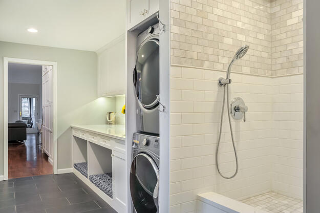 Pet Friendly Laundry Room Remodel with Dog Shower