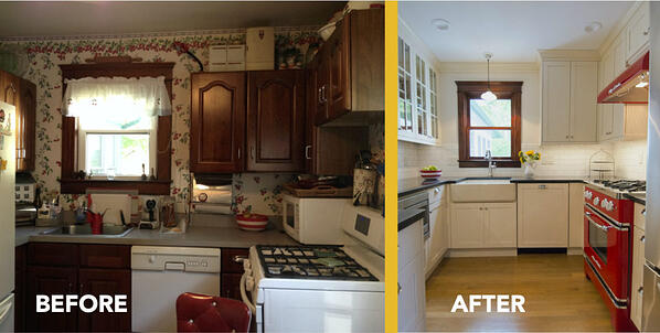 Small kitchen remodel before and after photos