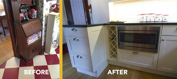 Before and After Photos of small kitchen remodel