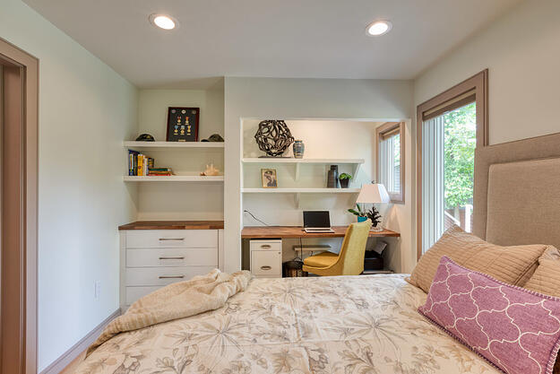 Master Suite with office design with aging in place design strategies