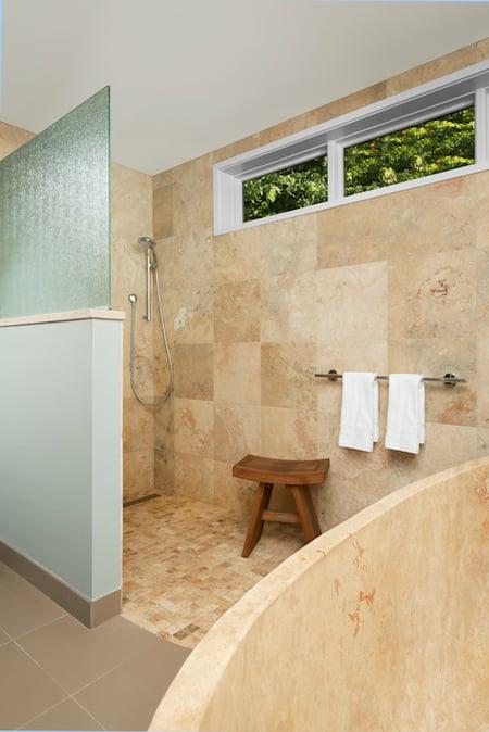 forest green shower smaller