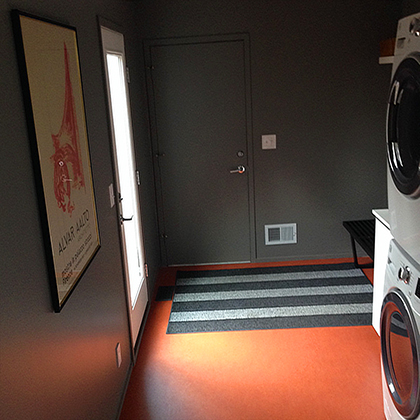mudroom flooring with laundry