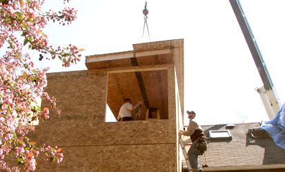 setting-SIP-roof-panel